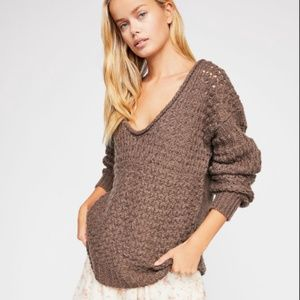 Free People Crashing Waves Pullover Wool Sweater